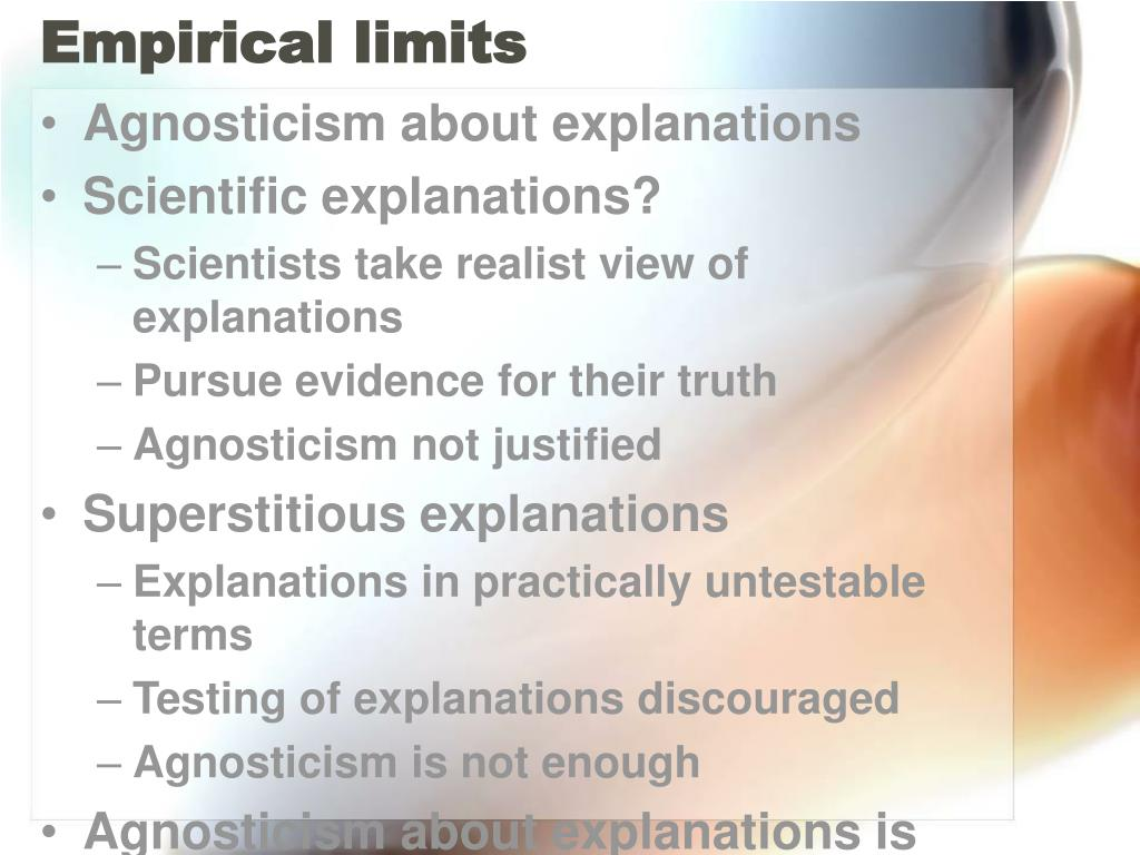 Empirical limits