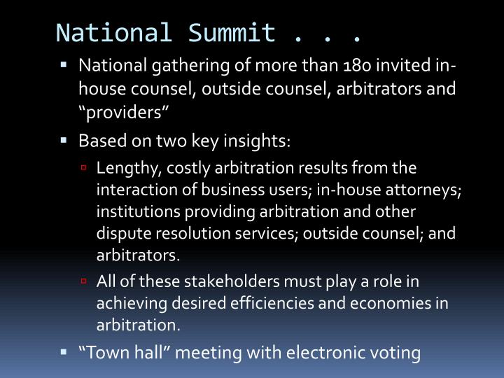 National Summit . . .