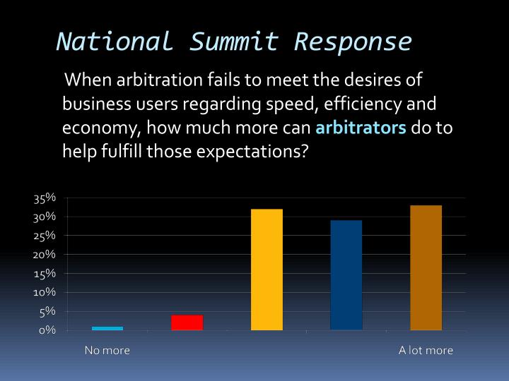 National Summit Response