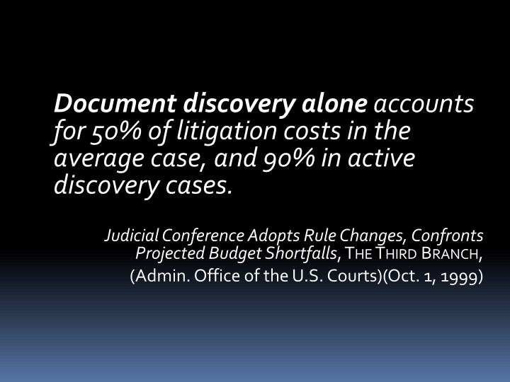 Document discovery alone
