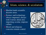 islam science secularism