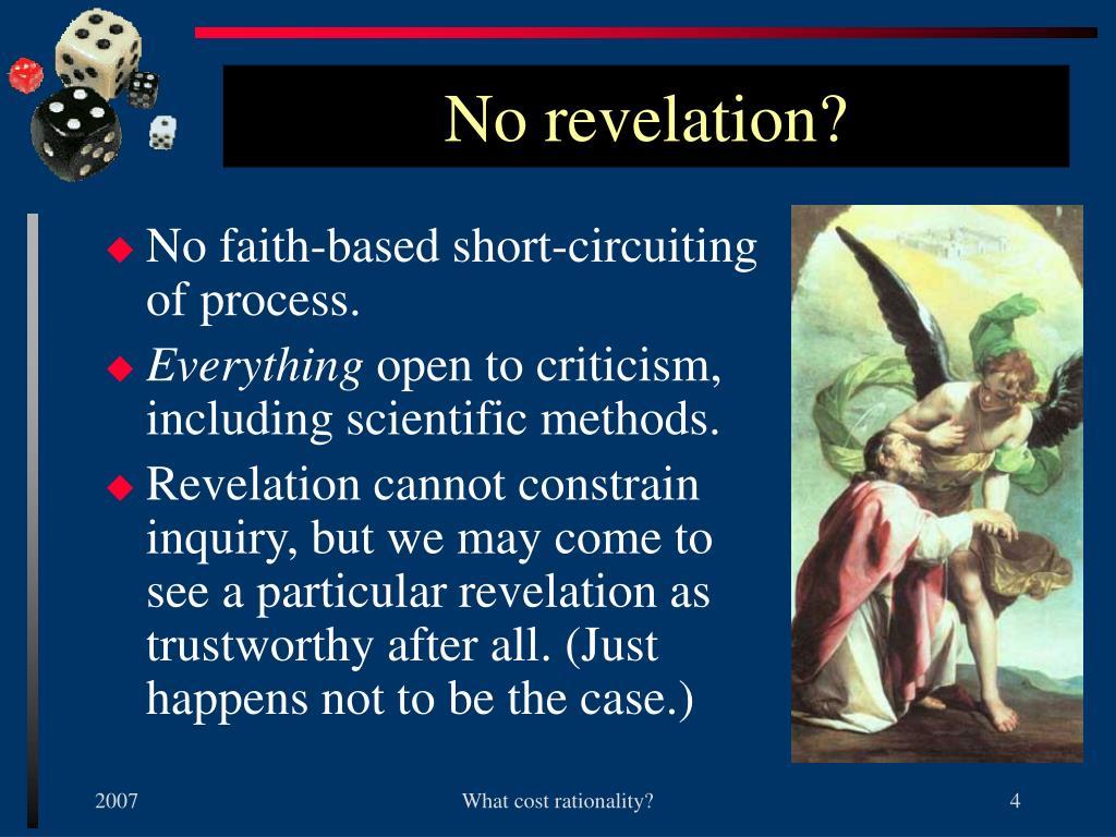 No revelation?