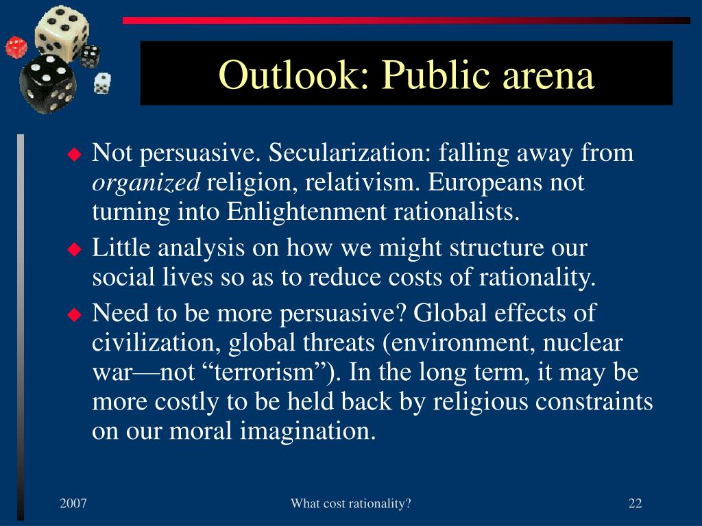 Outlook: Public arena