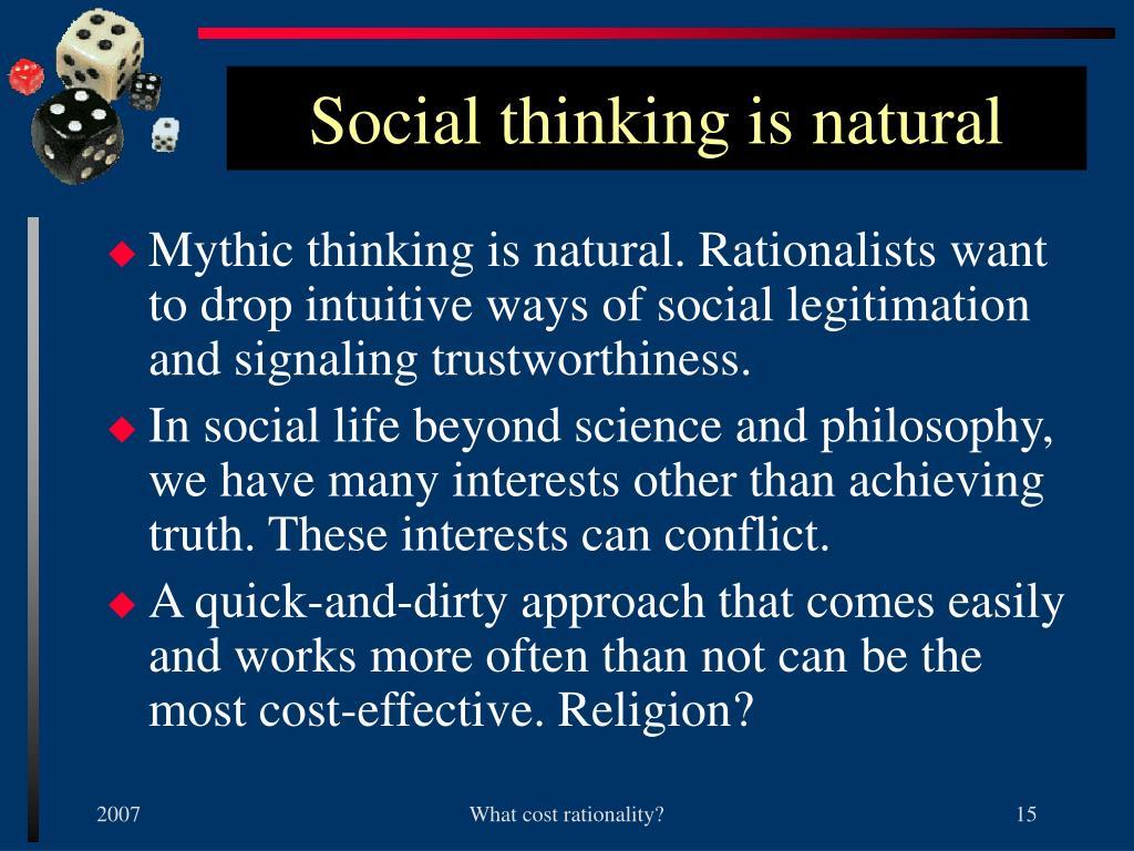 Social thinking is natural