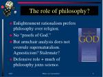 the role of philosophy
