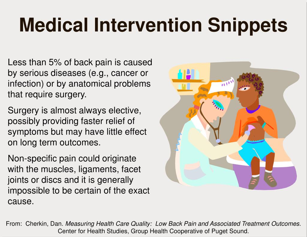 Medical Intervention Snippets