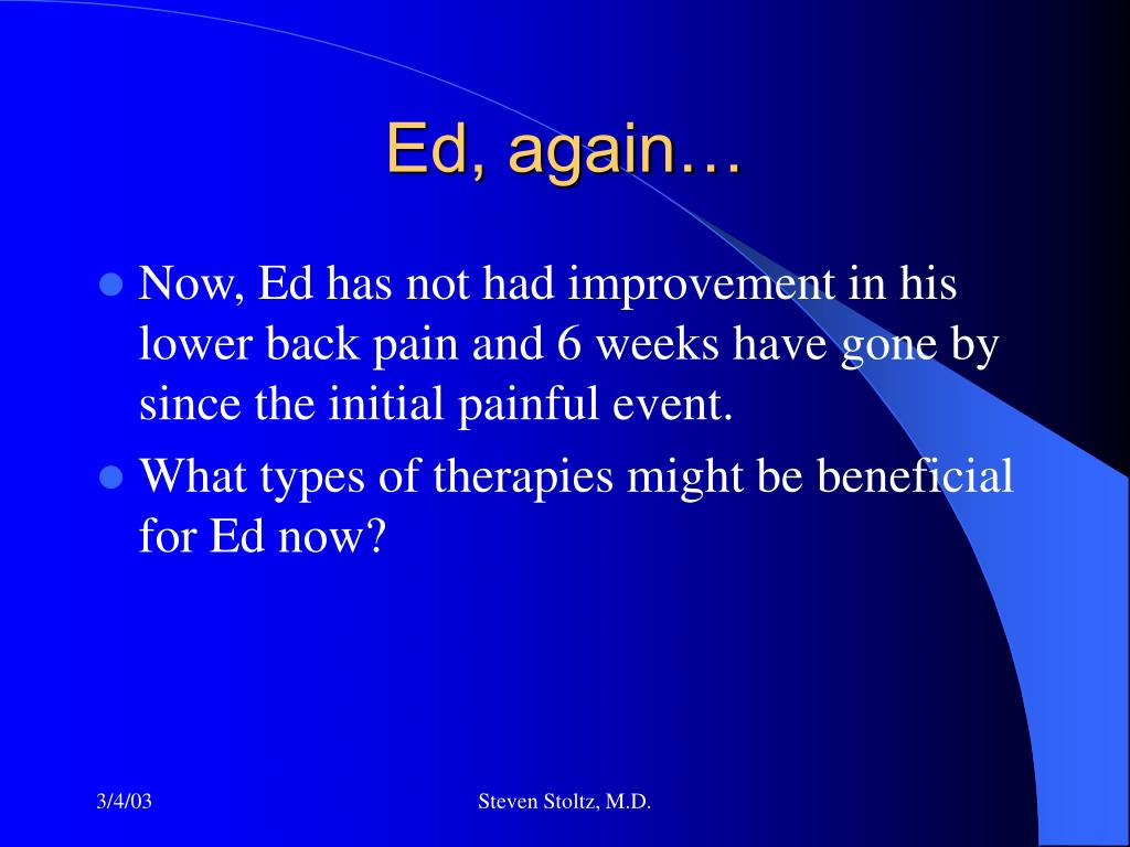 Ed, again…