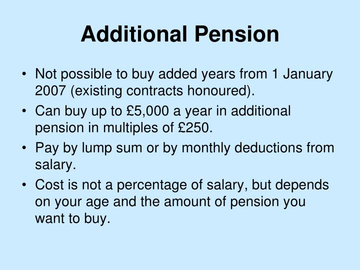 Additional Pension