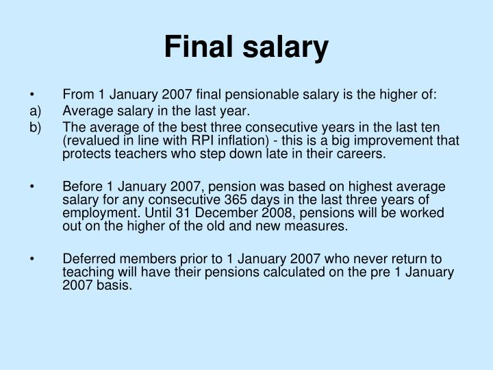 Final salary
