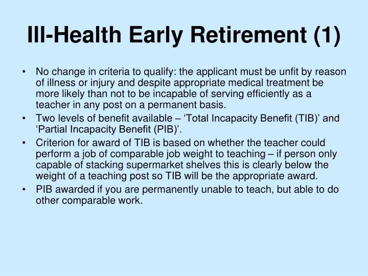 Ill-Health Early Retirement (1)