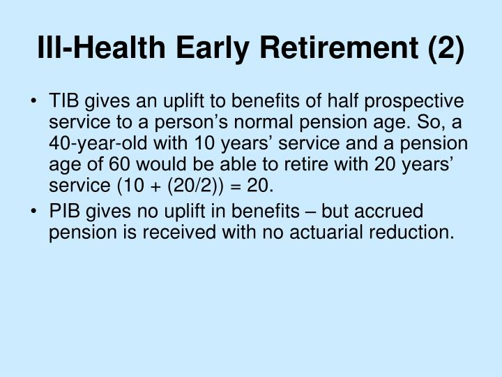Ill-Health Early Retirement (2)