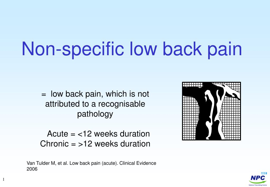 non specific low back pain