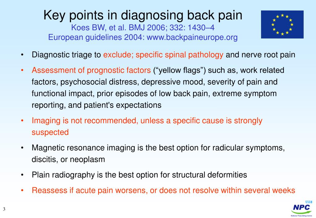 Key points in diagnosing back pain