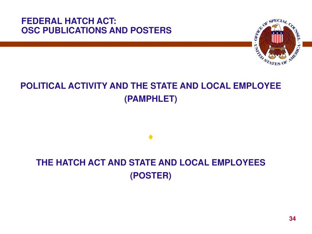 FEDERAL HATCH ACT: