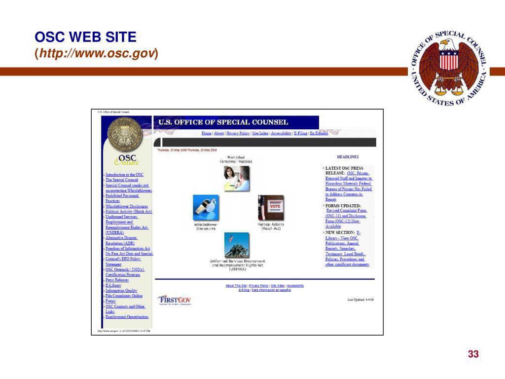 OSC WEB SITE