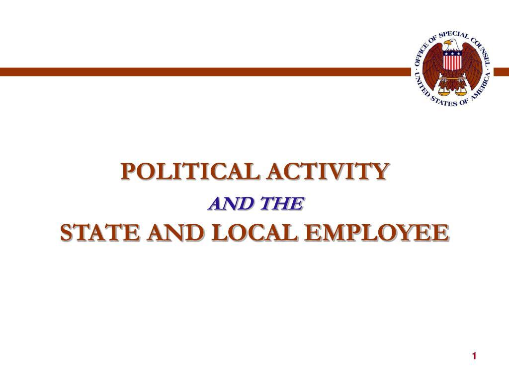 POLITICAL ACTIVITY