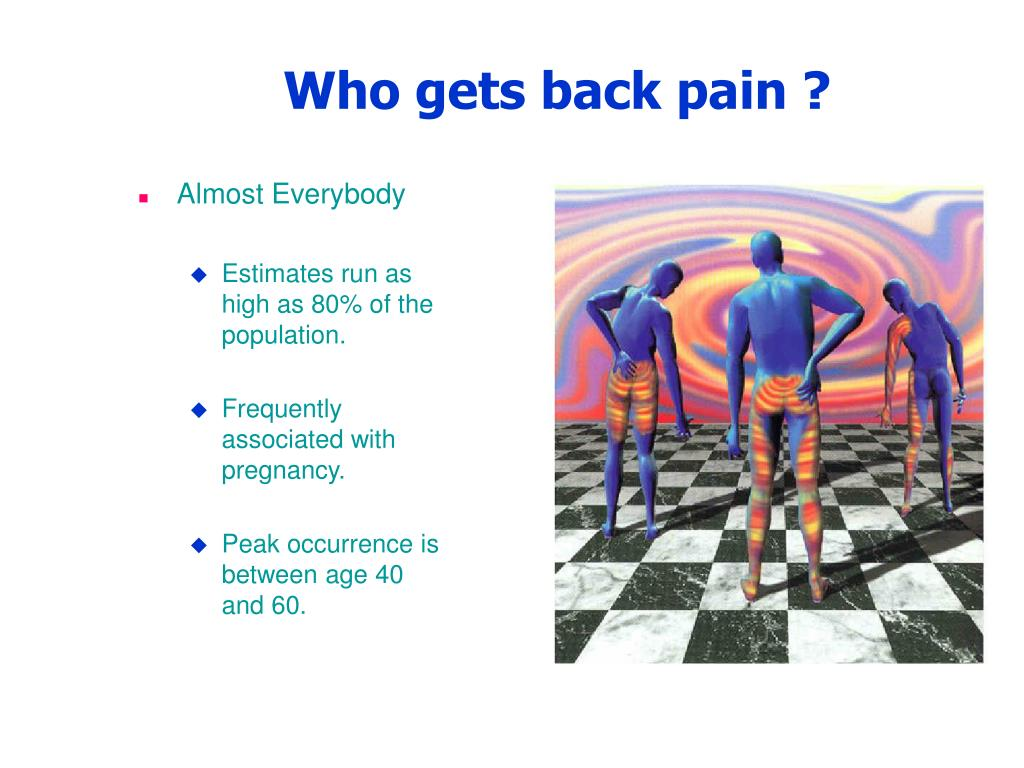 Who gets back pain ?