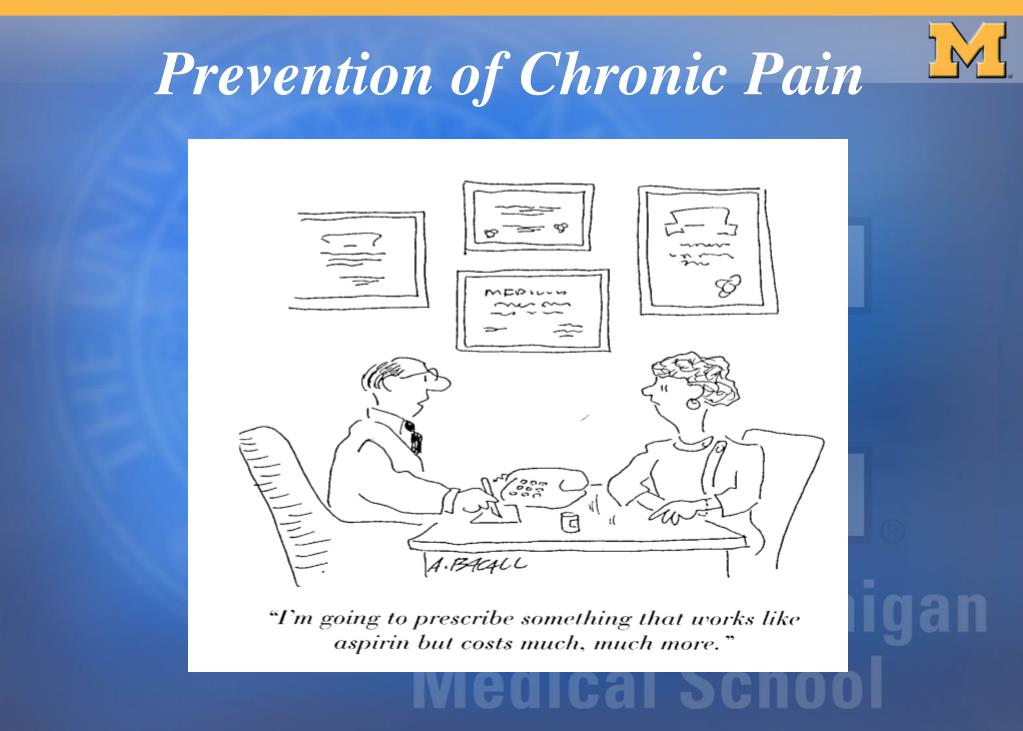 Prevention of Chronic Pain