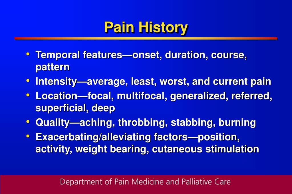 Pain History