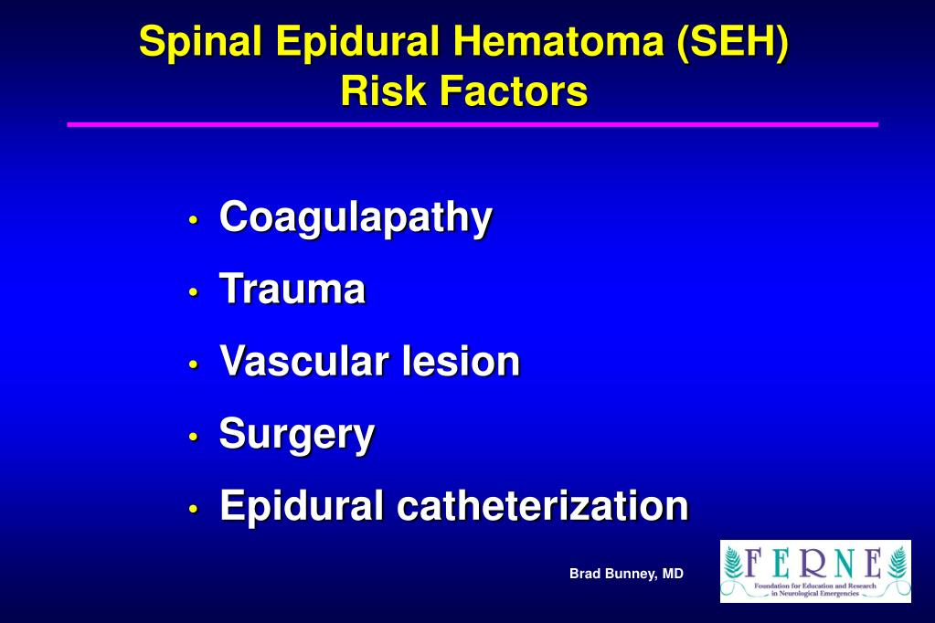 Spinal Epidural Hematoma (SEH)