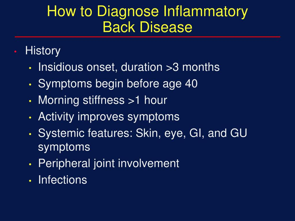How to Diagnose Inflammatory