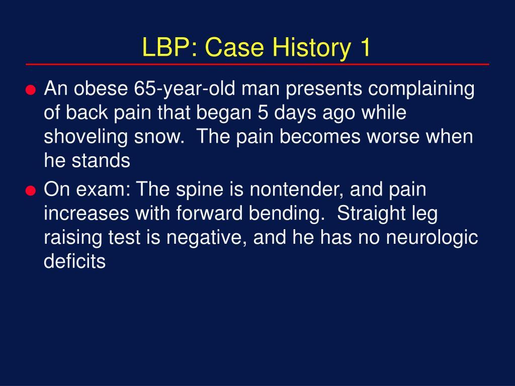 LBP: Case History 1