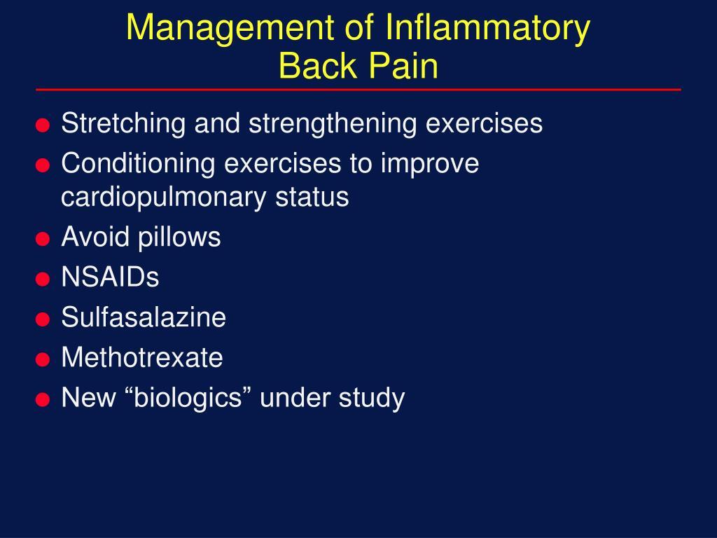 Management of Inflammatory