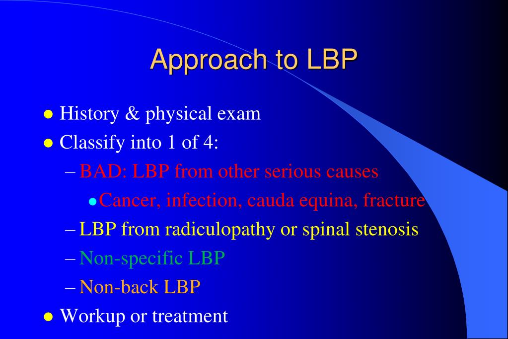 Approach to LBP