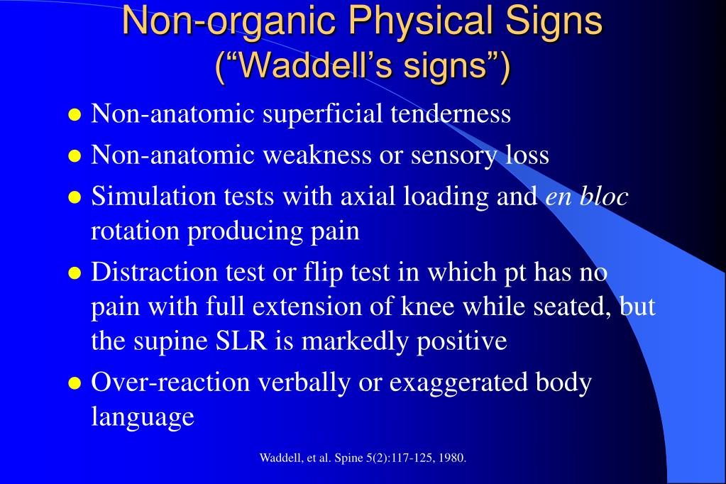Non-organic Physical Signs