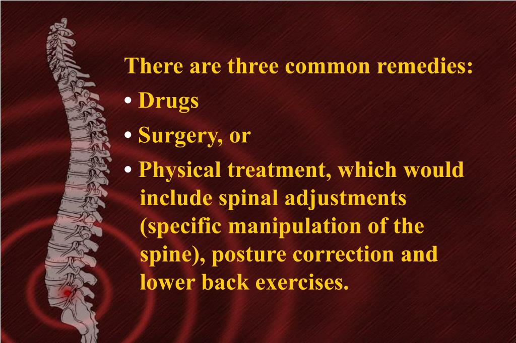 There are three common remedies: