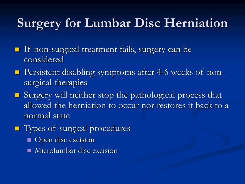 Surgery for Lumbar Disc Herniation