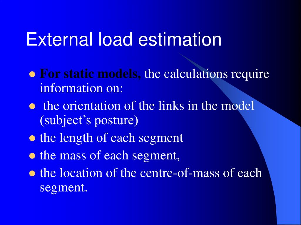 External load estimation