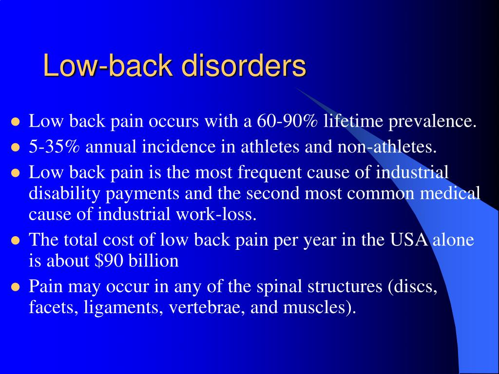 Low-back disorders