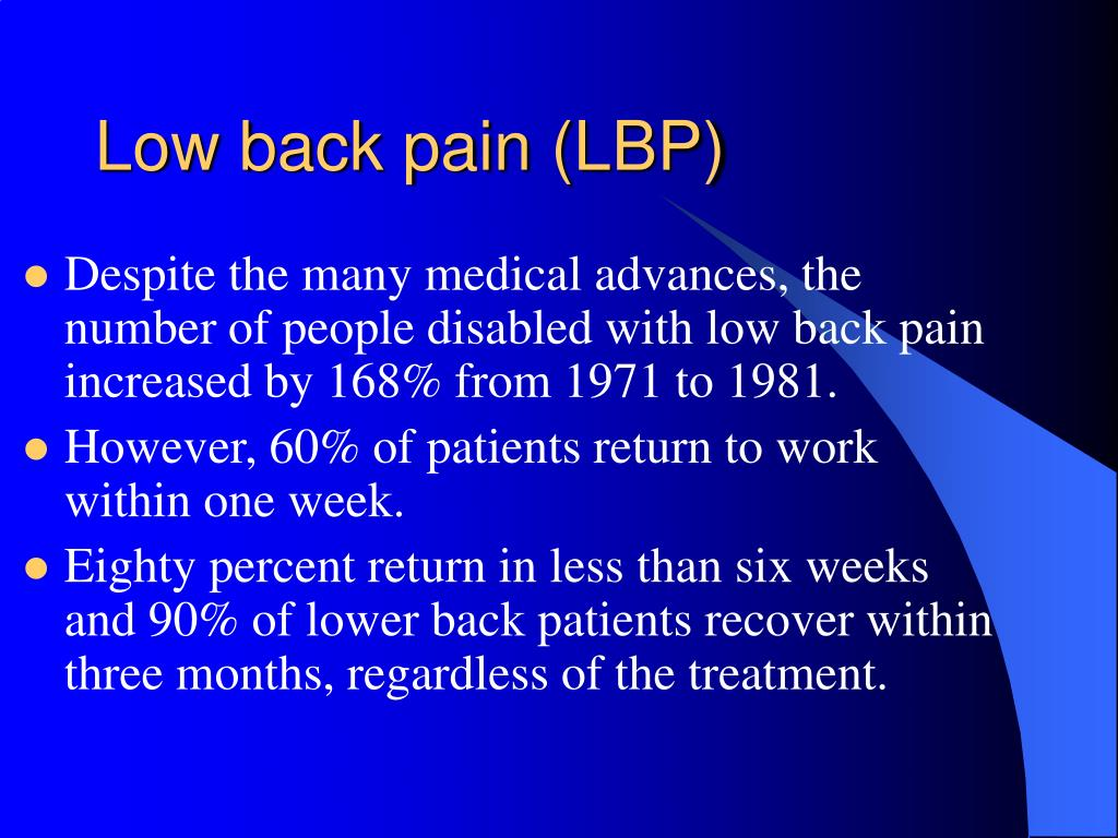 Low back pain (LBP)