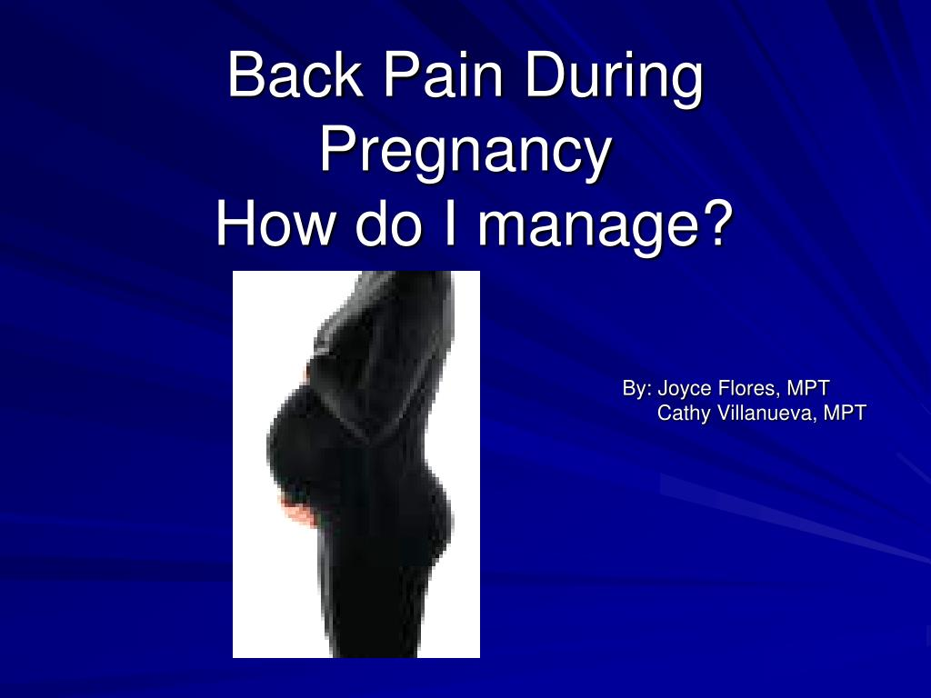Back Pain During