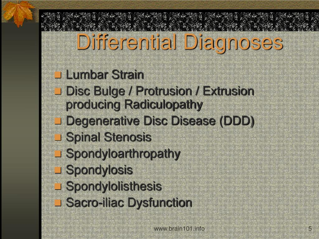Differential Diagnoses