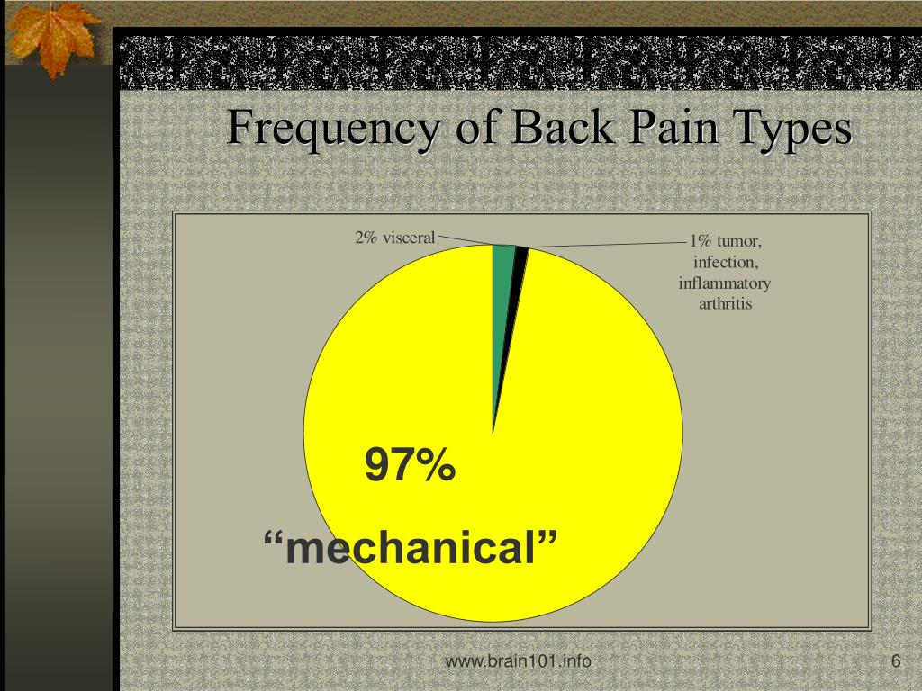 Frequency of Back Pain Types