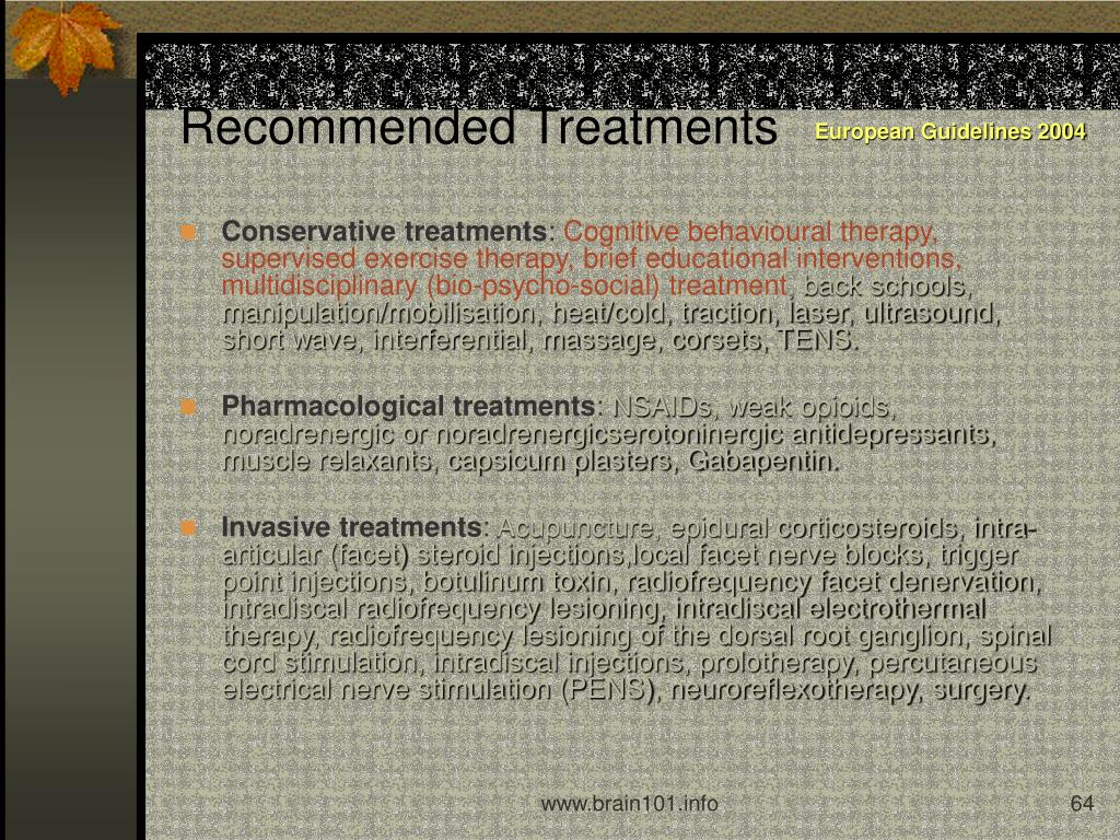 Recommended Treatments