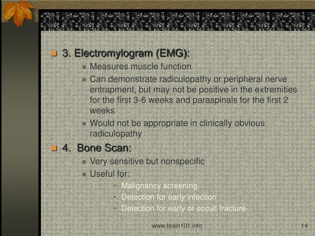 3. Electromylogram (EMG):