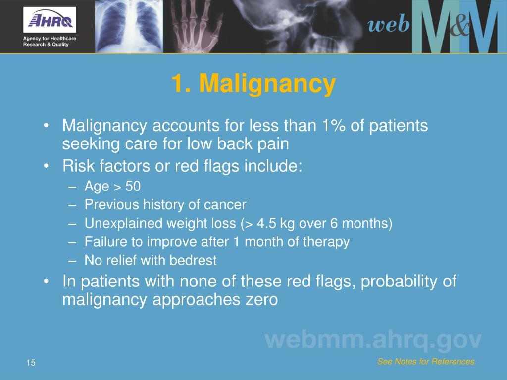 1. Malignancy