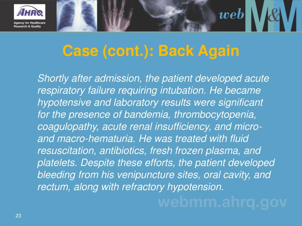 Case (cont.): Back Again