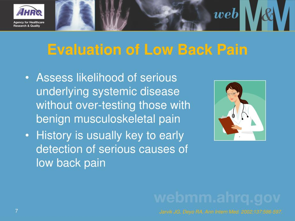 Evaluation of Low Back Pain