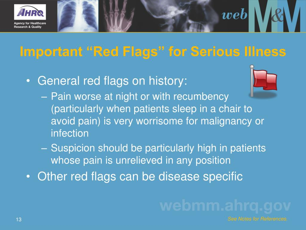 "Important ""Red Flags"" for Serious Illness"