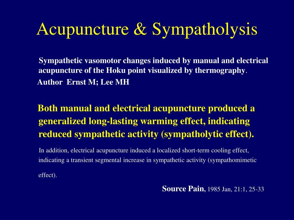 Acupuncture & Sympatholysis