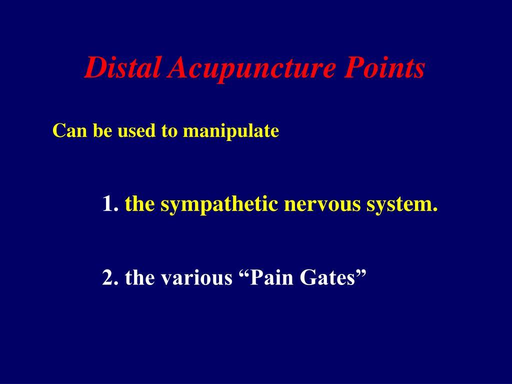 Distal Acupuncture Points