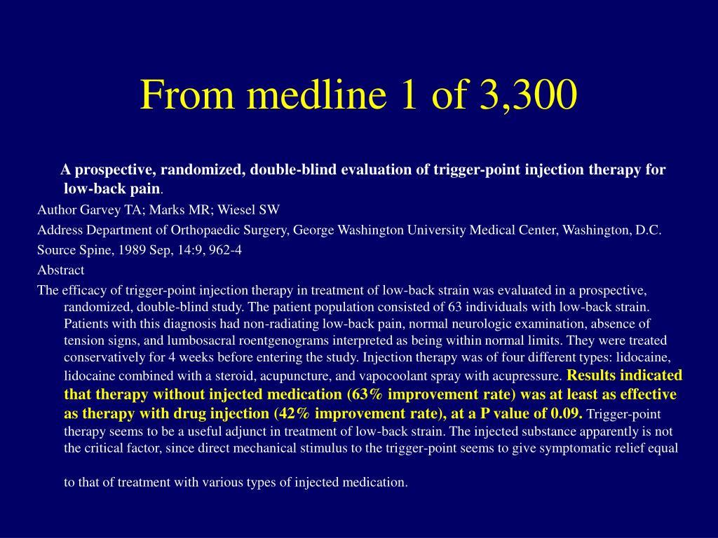 From medline 1 of 3,300