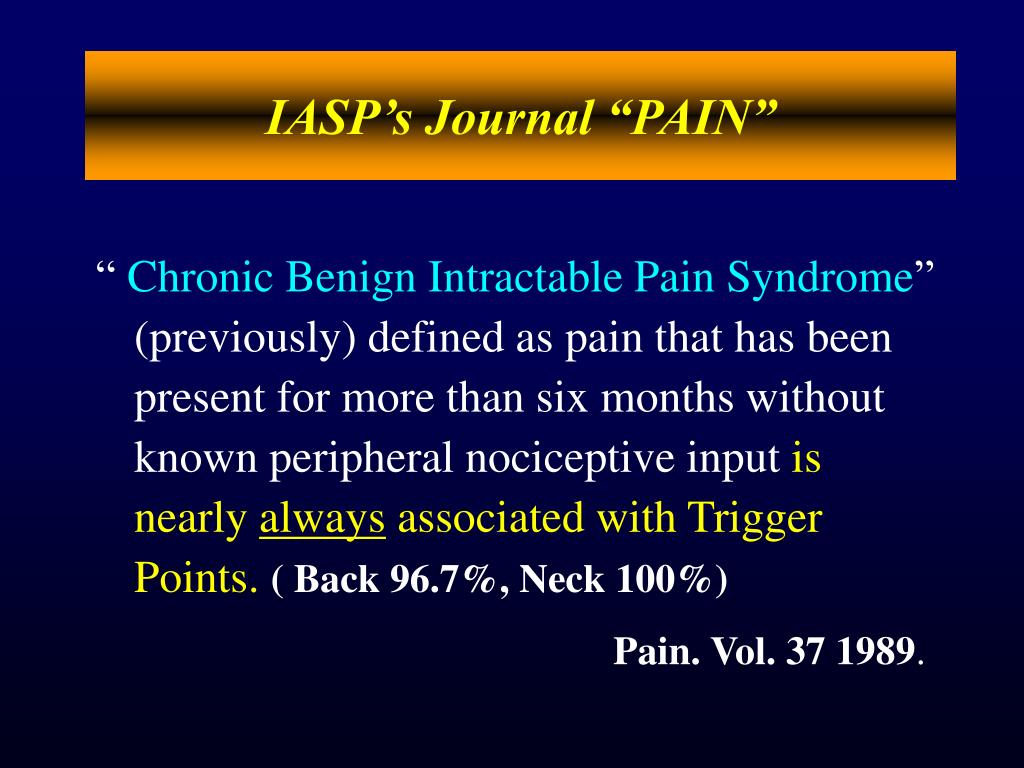 "IASP's Journal ""PAIN"""