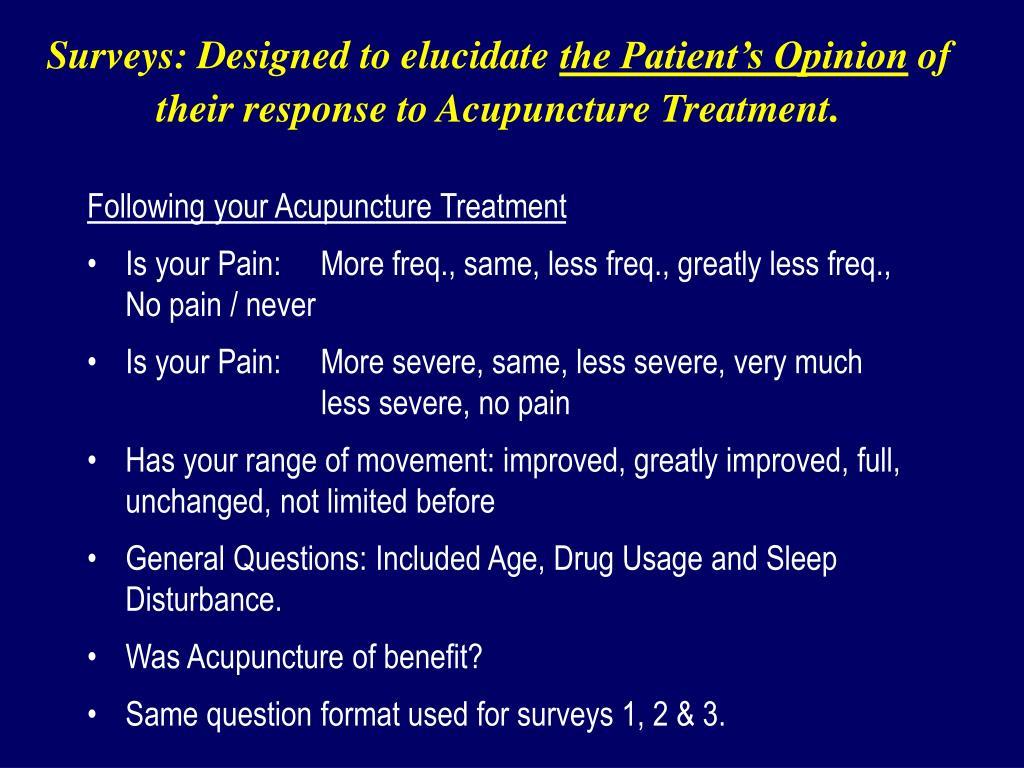 Surveys: Designed to elucidate