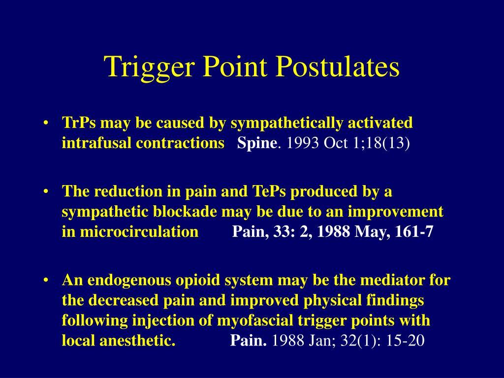 Trigger Point Postulates