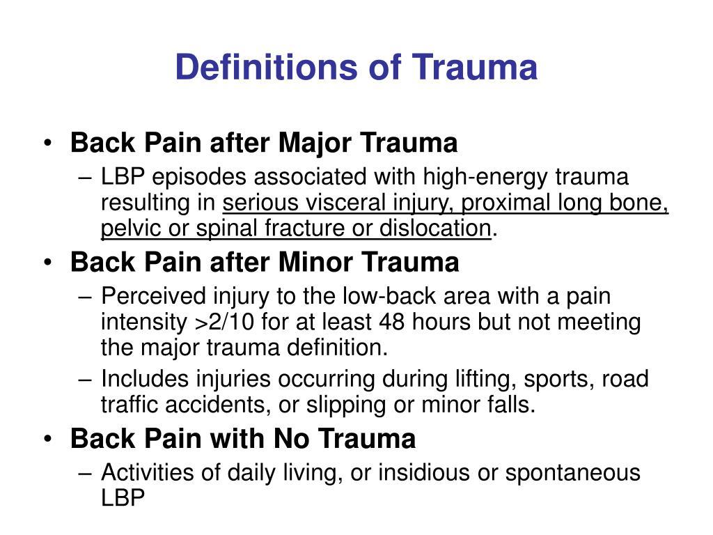 Definitions of Trauma